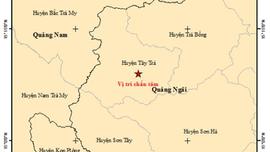 Quảng Ngãi : Chỉ trong vòng 5 tiếng đồng hồ đã xảy ra 4 trận động đất tại huyện Tây Trà