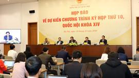 Ngày 20-10 khai mạc kỳ họp thứ 10, Quốc hội khoá XIV