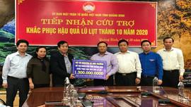 Đoàn công tác Bộ TN&MT thăm hỏi, trao quà người dân vùng lũ Quảng Bình