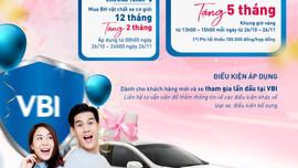 VBI tặng 5 tháng bảo hiểm xe ô tô cho khách hàng mới