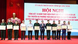 Quảng Ninh: Tổng kết 10 năm thực hiện pháp luật huy động nhân lực, tàu thuyền, phương tiện bảo vệ chủ quyền vùng biển