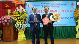 PGS.TS. Huỳnh Quyền làm Hiệu trưởng Trường Đại học TN&MT TP.HCM