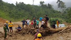 Huy động nhiều phương tiện tìm kiếm nạn nhân mất tích tại Trà Leng