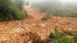 Sạt lở ở Quảng Ngãi, cả ngôi làng ngập trong đất đá