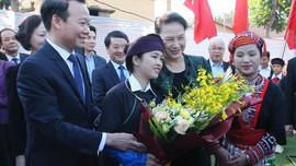 Chủ tịch Quốc hội Nguyễn Thị Kim Ngân dự Ngày hội đại đoàn kết dân tộc tại Yên Bái