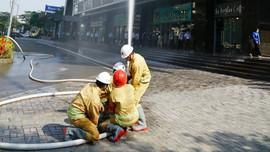 Diễn tập phương án chữa cháy, cứu nạn, cứu hộ tại tòa nhà PV GAS Tower