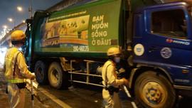 Xử phạt hàng loạt xe vận chuyển rác