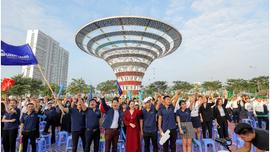 Hàng nghìn 'chiến binh' tham dự Lễ ra quân dự án Khu đô thị Dương Nội