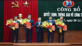 Quảng Bình: Công bố Quyết định điều động, bổ nhiệm nhiều cán bộ chủ chốt