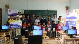 EVNGENCO 3 tặng 80 máy vi tính cho các trường học tỉnh Gia Lai và Kon Tum