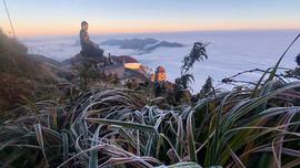 Lào Cai: Nhiệt độ giảm sâu băng tuyết phủ trắng núi rừng Hoàng Liên