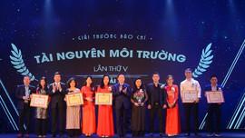 Trao Giải thưởng Môi trường Việt Nam và Giải thưởng Báo chí tài nguyên và môi trường lần thứ V