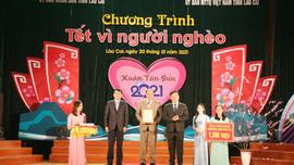 """Lào Cai: Gần 40 tỷ đồng ủng hộ """"Tết vì người nghèo"""""""