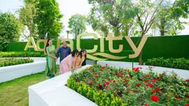 """Gia đình sao Việt trải nghiệm Tết """"sinh thái"""" tại Aqua City"""