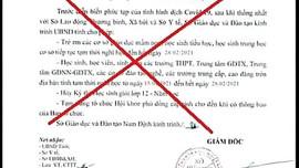 Nam Định: Công văn cho học sinh, sinh viên nghỉ học sau tết là giả mạo