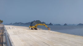 Phạt Công ty CP Đầu tư Xây dựng đô thị Phương Đông 100 triệu đồng vì đổ đất trái phép ra vịnh Bái Tử Long