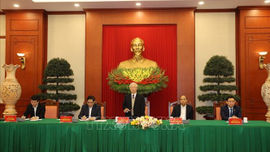 Bộ Chính trị gặp mặt thân mật các đồng chí nguyên Ủy viên Bộ Chính trị, Ban Bí thư, Trung ương khóa XII