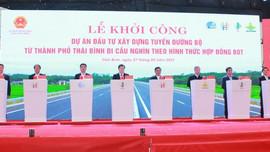 Thái Bình: Hợp long cầu Trà Lý và khởi công tuyến đường bộ hơn 2.500 tỷ đồng