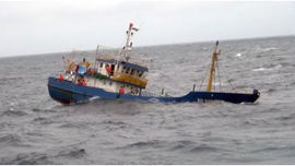 Thanh Hóa: Một ngư dân mất tích trên biển