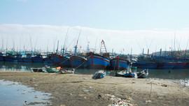 Cảng Sa Huỳnh bị bồi lấp, hàng trăm tàu cá Quảng Ngãi nằm bờ