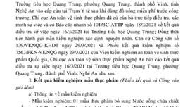 Nghệ An: Không phát hiện yếu tố gây ngộ độc vụ học sinh nhập trạm y tế sau khi uống nước miễn phí