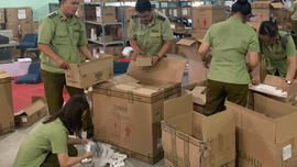 Nhiều thiết bị điện tử nhập lậu bị thu giữ tại kho hàng thuộc Công ty TNHH MIMISO VIỆT NAM