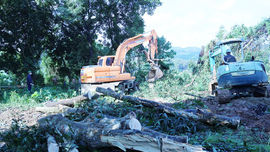Bảo Thắng - Lào Cai: Cưỡng chế thu hồi đất hoàn thiện Dự án Đầu tư hạ tầng kỹ thuật bờ tả sông Hồng