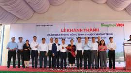 Nguyên Chủ tịch nước Trương Tấn Sang dự Lễ khánh thành 2 cầu nông thôn tại huyện Phù Cát, tỉnh Bình Định