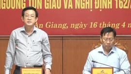 Ban Tôn giáo Chính phủ đánh giá cao việc triển khai thi hành Luật tín ngưỡng, tôn giáo tại An Giang