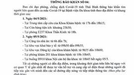 Thái Bình: Phát thông báo khẩn sau khi ghi nhận ca dương tính thứ 9 trong cộng đồng