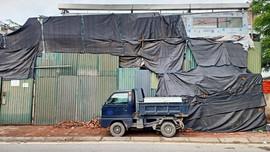Vi phạm trên khu vực đất do Công ty CP Đầu tư Xây dựng Phát triển nhà số 7 Hà Nội quản lý