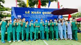 200 y, bác sĩ của Quảng Ninh lên đường hỗ trợ tỉnh Bắc Giang phòng, chống dịch Covid-19