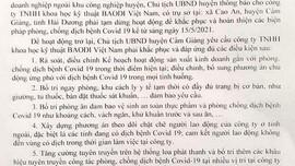 Cẩm Giàng - Hải Dương: Tạm dừng hoạt động 2 doanh nghiệp do không đáp ứng yêu cầu phòng chống dịch