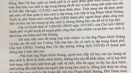 Hải Dương: Xử lý Thiếu tá quân đội trong thực hiện phòng chống dịch Covid – 19