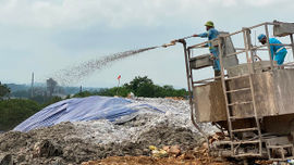 """Bãi rác Nam Sơn - Hà Nội: Đảm bảo vận hành, không """"lúng túng"""" trước dịch bệnh Covid-19"""