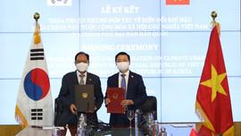 Việt Nam và Hàn Quốcký kết Thỏa thuận khung hợp tác về biến đổi khí hậu