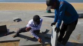 Bình Định: Dự án Công viên biển đường Xuân Diệu xuất hiện điểm lỗi hư hỏng
