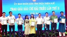 Báo TN&MT đạt giải Báo chí Hải Triều tỉnh Thừa Thiên Huế năm 2021