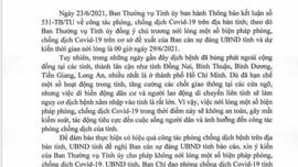 Bà Rịa – Vũng Tàu: Tiếp tục dừng một số hoạt động để phòng chống dịch Covid -19