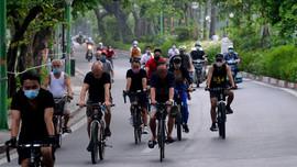 Hà Nội: Bất chấp lệnh cấm, người dân vẫn xuống đường tập thể dục