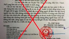 Lạng Sơn: Công an vào cuộc điều tra đối tượng làm giả văn bản của UBND tỉnh