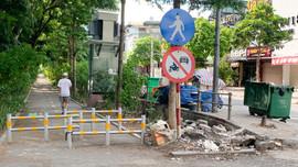 Hà Nội: Đường đi bộ phố Thái Hà có dấu hiệu xuống cấp