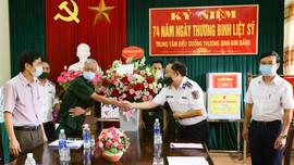 Cảnh sát biển đẩy mạnh các hoạt động tri ân các Anh hùng Thương binh Liệt sỹ