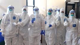 Hình ảnh các cán bộ y tế tỉnh Hà Nam tại tâm dịch Covid-19 TP. Hồ Chí Minh