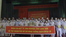 Lạng Sơn: Hơn 30 cán bộ Y tế tình nguyện lên đường hỗ trợ TP. Hồ Chí Minh chống dịch