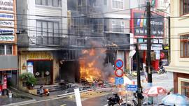 Sa Pa - Lào Cai: Cháy cửa hàng kinh doanh ga gây thiệt hại lớn