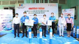 EVNGENCO 3 tài trợ bình oxy miễn phí cho bệnh nhân COVID-19 tại TP Thủ Đức