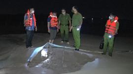 Hà Nam: Cảnh sát môi trường phát hiện vụ khai thác cát trái phép khối lượng lớn