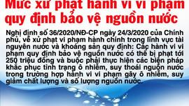 Mức xử phạt hành vi vi phạm quy định bảo vệ nguồn nước