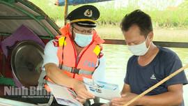Ninh Bình: Phát hiện trường hợp vi phạm trong khai thác thuỷ sản trên sông Đáy